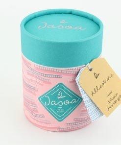 albertine infusion amande grillée 100 grammes boîte cartonnée jasoa bleu rose