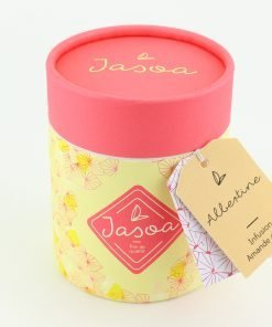 albertine infusion amande grillée 100 grammes boîte cartonnée jasoa rose jaune