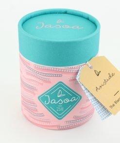 aristide thé blanc exotique biologique 80 grammes boîte cartonnée jasoa bleu rose
