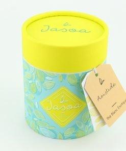 aristide thé blanc exotique biologique 80 grammes boîte cartonnée jasoa jaune turquoise