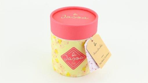 aristide thé blanc exotique biologique 80 grammes boîte cartonnée jasoa rose jaune