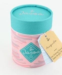 auguste thé oolong grenade baies de goji pêche 90 grammes boîte cartonnée jasoa bleu rose