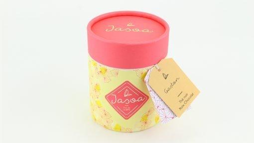gaston thé noir noix chocolat biologique 80 grammes boîte cartonnée jasoa rose jaune