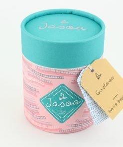 gustave thé noir bergamote biologique 90 grammes boîte cartonnée jasoa bleu rose