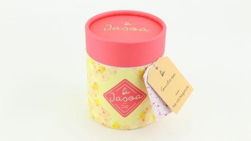 gustave thé noir bergamote biologique 90 grammes boîte cartonnée jasoa rose jaune