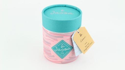 léon thé vert gingembre citron biologique 100 grammes boîte cartonnée jasoa bleu rose