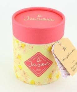 marjolaine tisane agrumes baies sauvages 100 grammes boîte cartonnée jasoa rose jaune