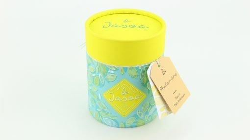 philomène tisane paix intérieure 100 grammes boîte cartonnée jasoa jaune turquoise
