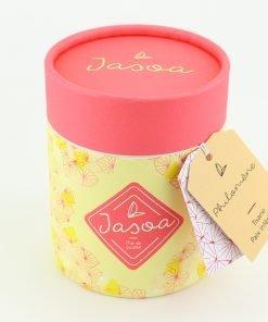 philomène tisane paix intérieure 100 grammes boîte cartonnée jasoa rose jaune