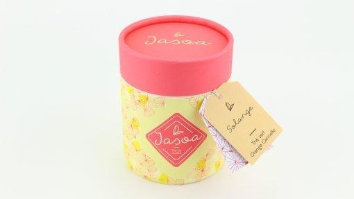 solange thé vert orange cannelle 100 grammes boîte cartonnée jasoa rose jaune