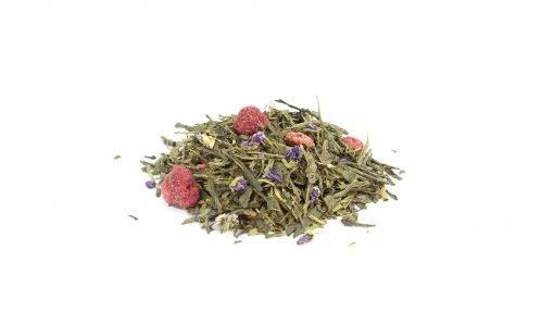suzanne thé vert violette framboise vrac