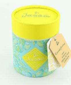 ernestine infusion gâteau de noël calamansi 100 grammes boîte cartonnée jasoa jaune turquoise