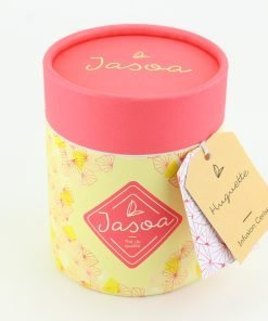 huguette infusion cerise 100 grammes boîte cartonnée jasoa rose jaune