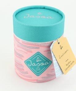 lucien rooibos cannelle vanille 100 grammes boîte cartonnée jasoa bleu rose
