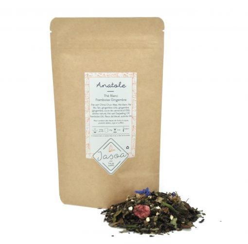 Anatole thé blanc Framboise Gingembre vrac et doypack