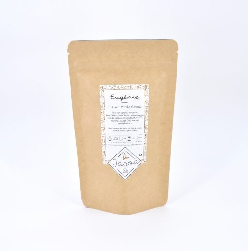 Eugénie thé vert myrtille gâteau 80 grammes doypack