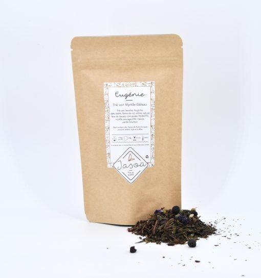 Eugénie thé vert myrtille gâteau vrac et doypack